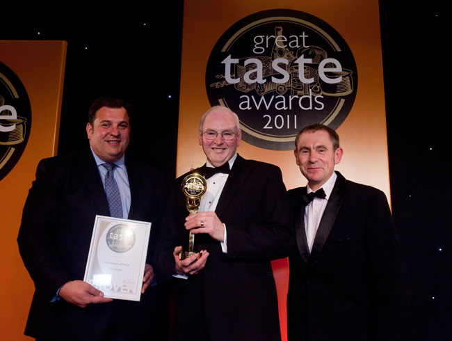 George receives his Great Taste Award 2011