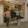 Car crashes into the shop window in the 1980s