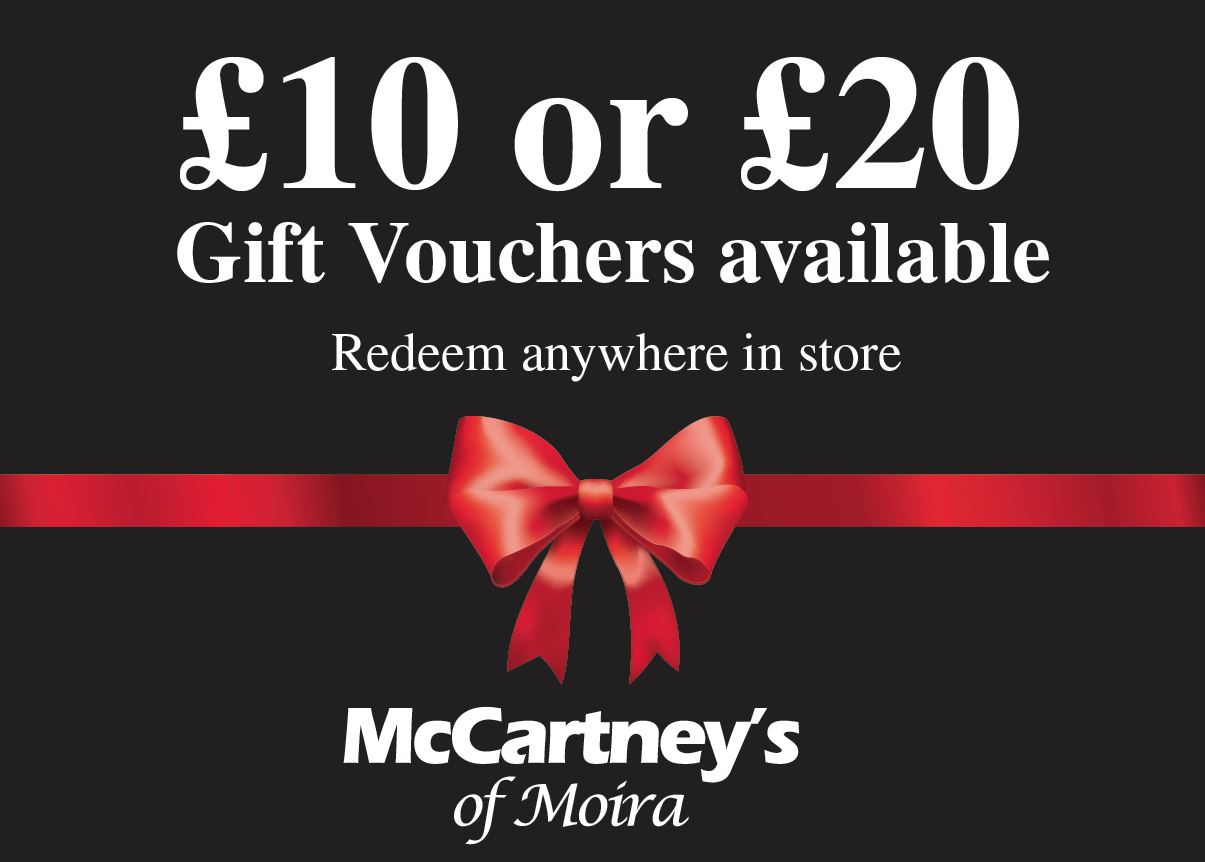 Gift Vouchers Available In Store