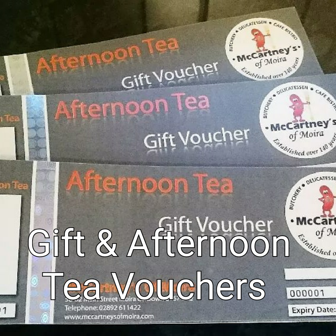 Click here for our gift & afternoon tea vouchers