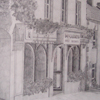 Pencil drawing of shop by Judith