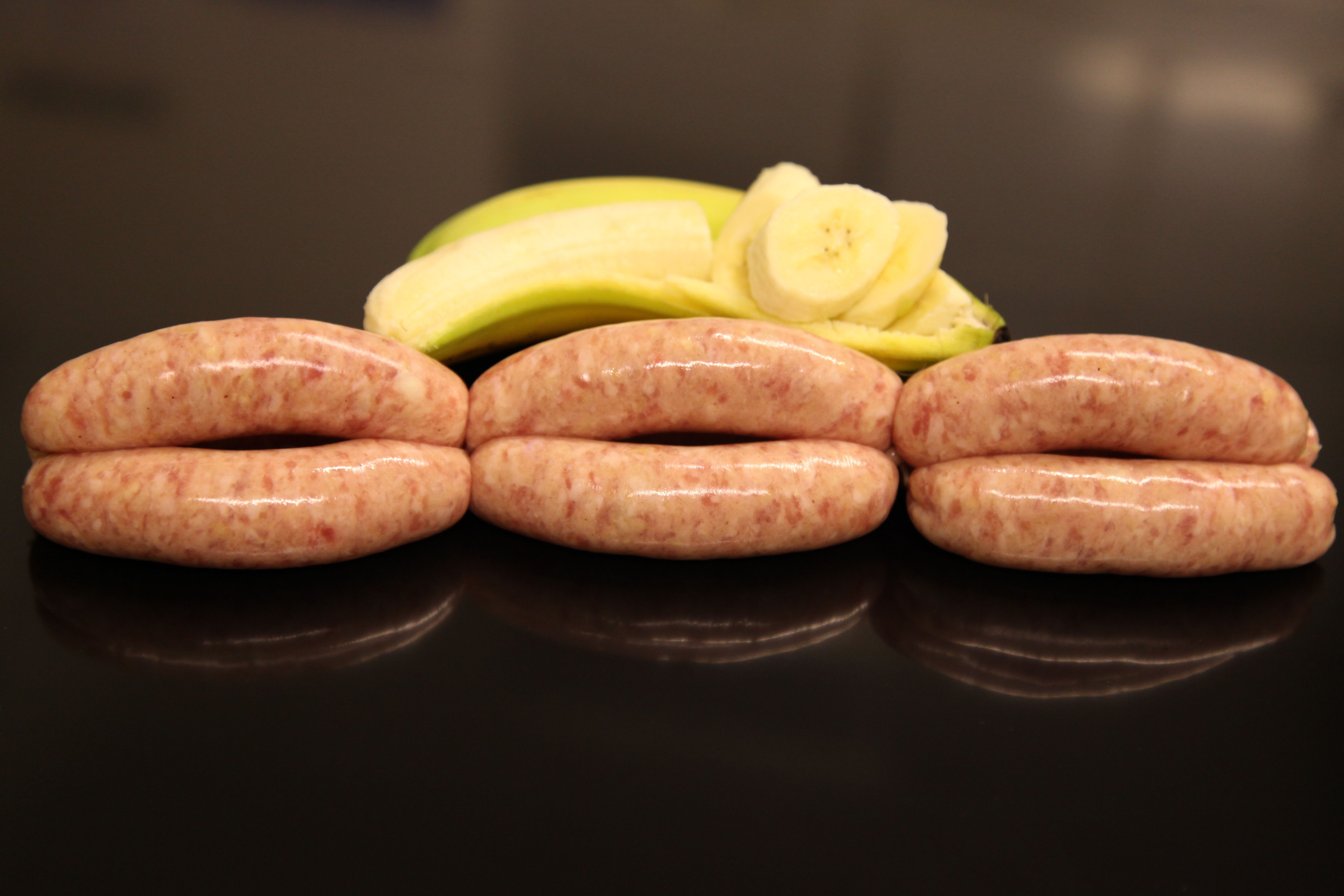 Pork & Banana Sausages