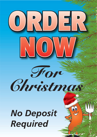 Christmas Food Ordering – No Deposit Required